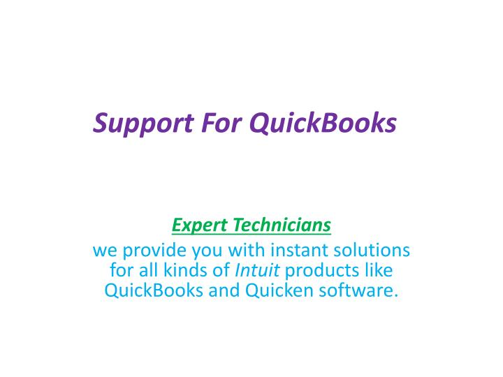 support for quickbooks n.