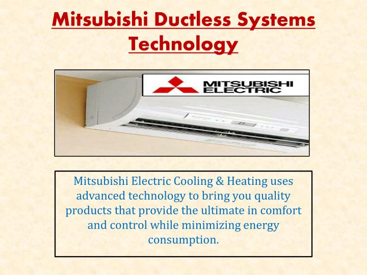 mitsubishi ductless systems technology n.
