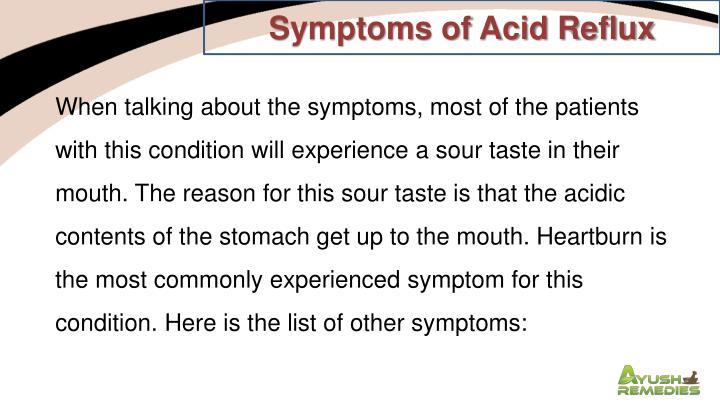 Symptoms of Acid Reflux