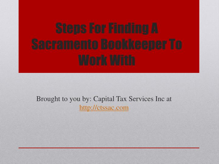 steps for finding a sacramento bookkeeper to work with n.
