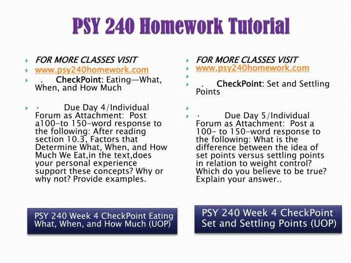 psy 240 set and settling points
