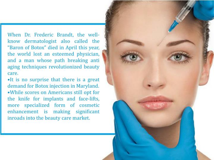 """When Dr. Frederic Brandt, the well-know dermatologist also called the """"Baron of Botox"""" died in A..."""