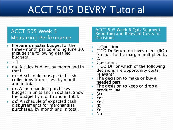 acct 505 project a Acct 505 project 2 hampton company capital budgeting decision hampton company: the production department has been investigating possible ways.