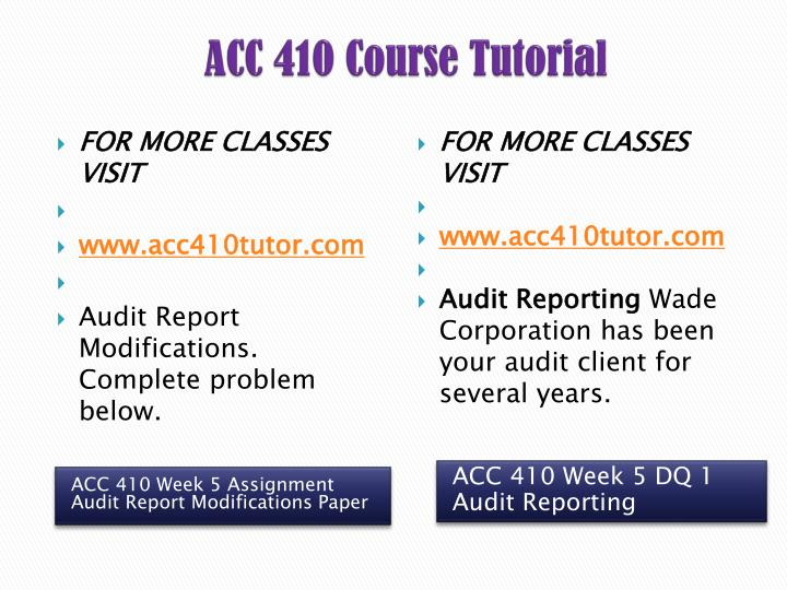 acc 410 complete course material all