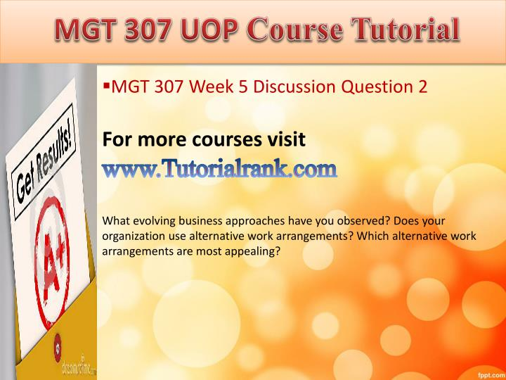 mgt 415 week 2 discussion questions