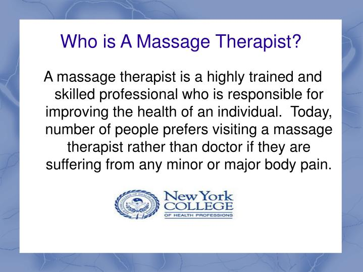 who is a massage therapist n.