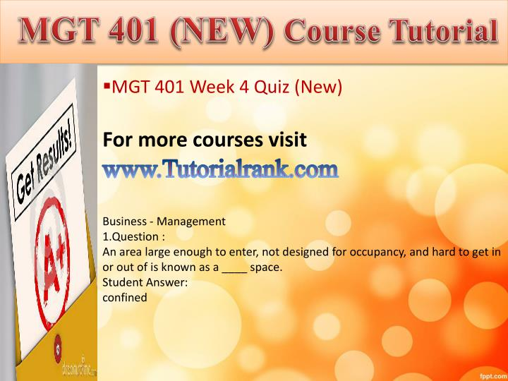 mgt week 5 knowledge check Find exactly what you want to learn from solved papers for mgt 521 - week 5 - quiz or knowledge check, developed by industry experts.