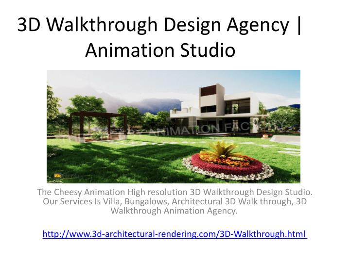 3d walkthrough design agency animation studio n.
