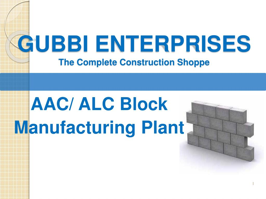 PPT - AAC Block Plant Consultant PowerPoint Presentation - ID:7226374