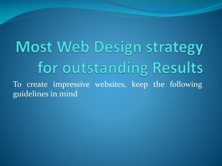 most web design strategy for outstanding results n.
