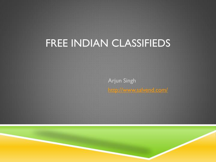 free indian classifieds n.