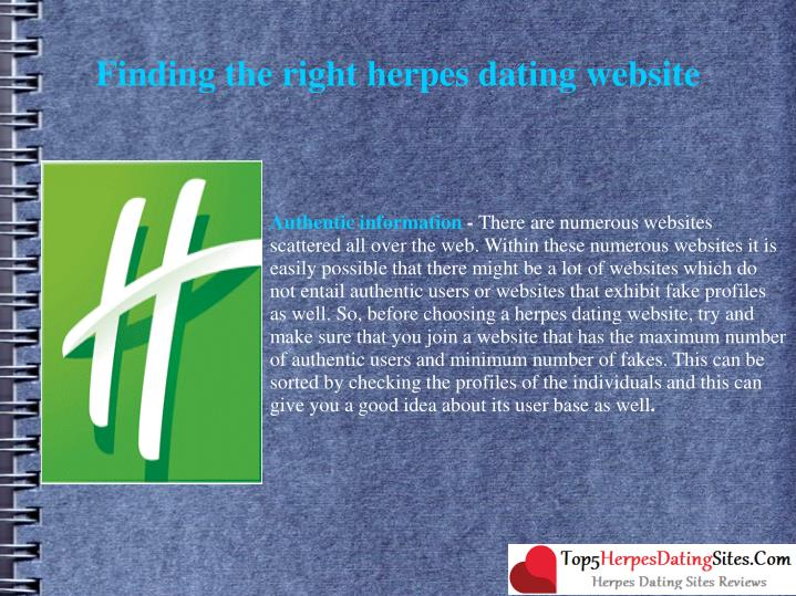Finding the right herpes dating website