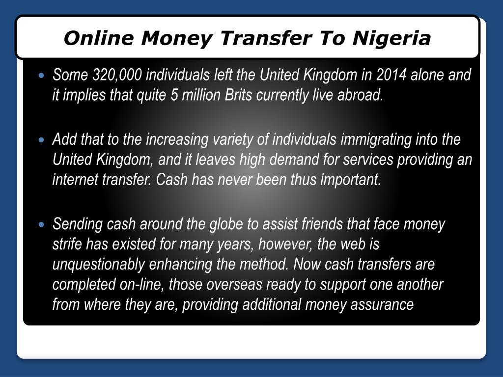 Find Online Money Transfer To Nigeria