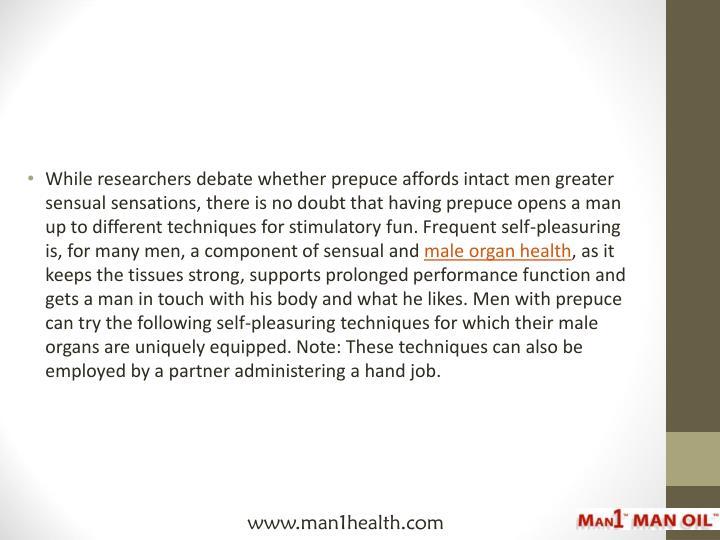 Self pleasuring men