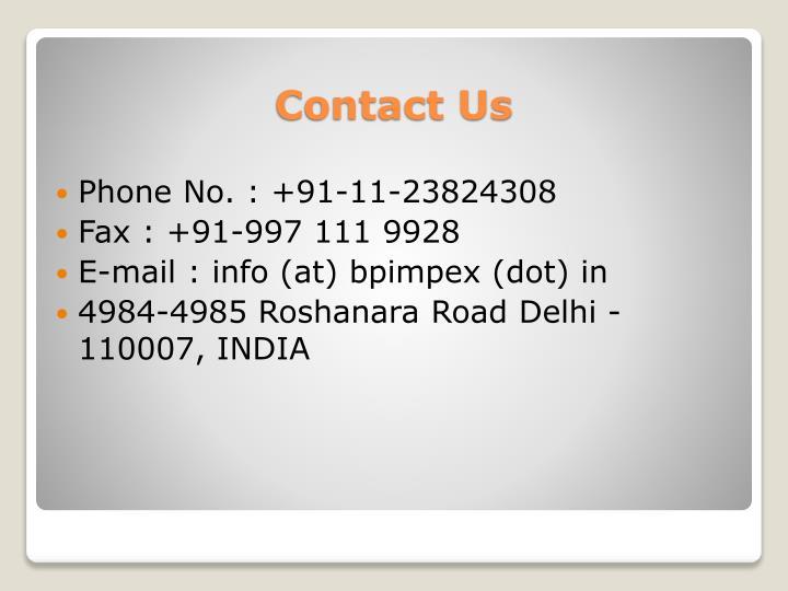 Phone No. : +91-11-23824308