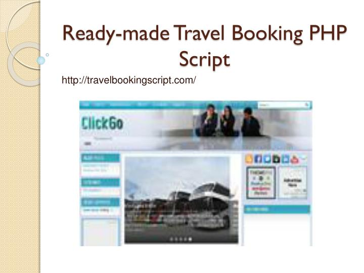 ready made travel booking php script n.