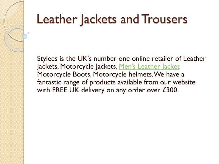 leather jackets and trousers n.
