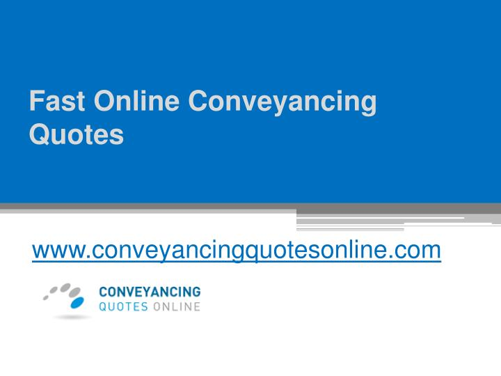 fast online conveyancing quotes n.