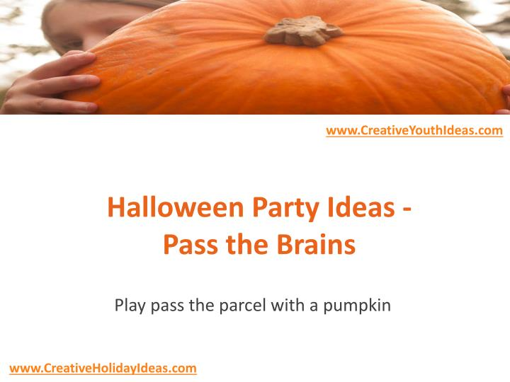 halloween party ideas pass the brains n.