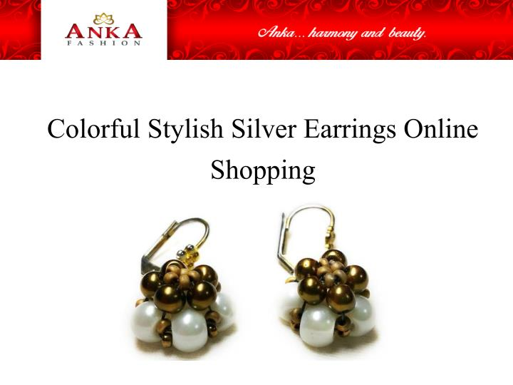 colorful stylish silver earrings online shopping n.