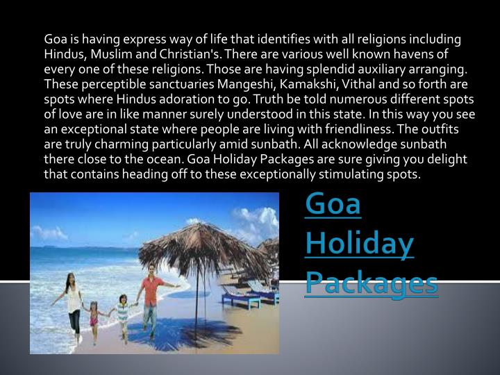 goa holiday packages n.
