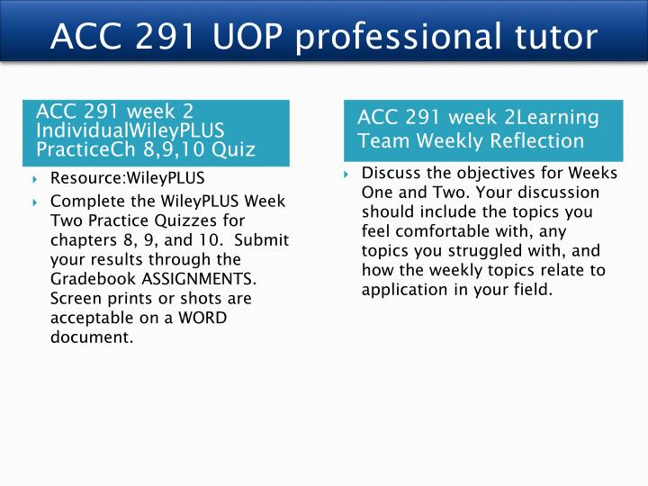 acc 291 week 2 chapter 08 Chapter 9 accounting for receivables assignment classification table study objectives questions brief 2 1 2 explain how.