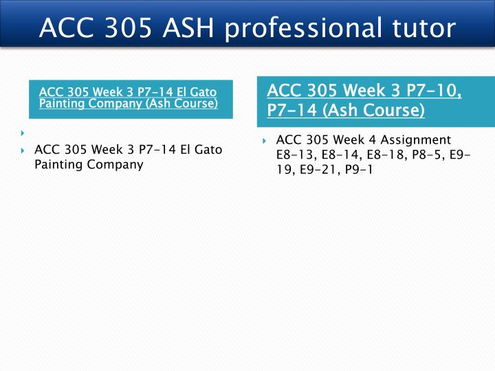 acc 305 week 4 p9 1 Intermediate accounting- acc 305 week 4 p9-1 decker company has five products in its inventory-answer key (instant download.