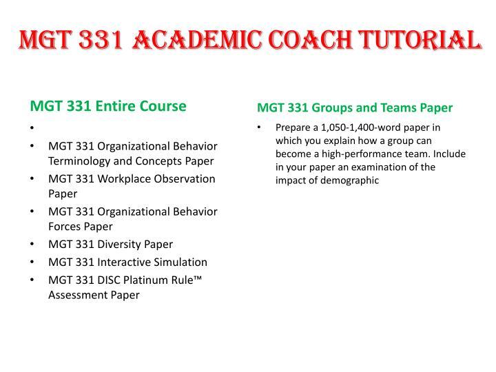 mgt 331 diversity essay