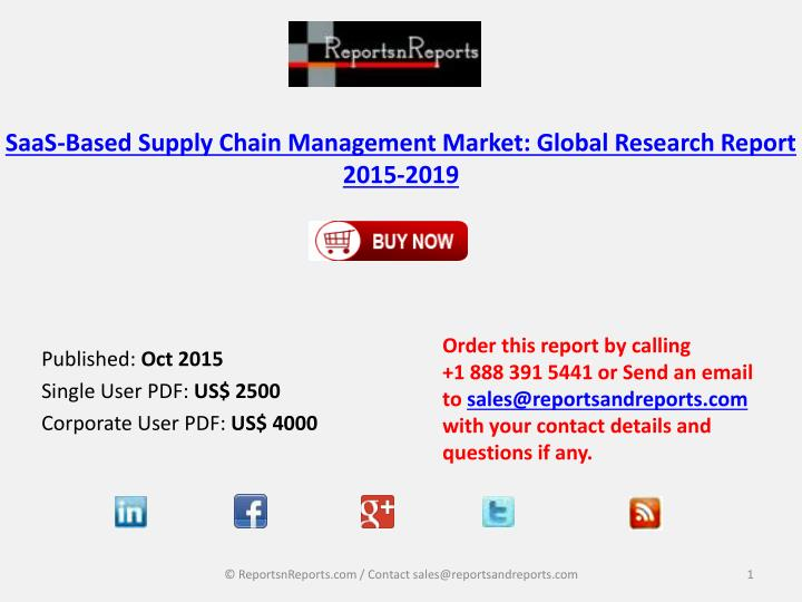 saas based supply chain management market global research report 2015 2019 n.