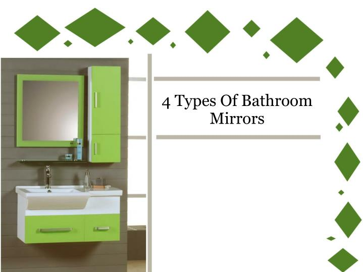 Ppt 4 Types Of Bathroom Mirrors
