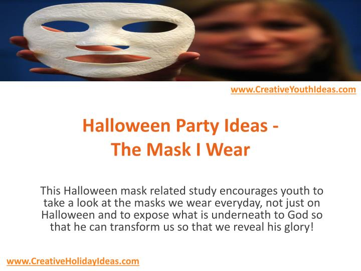 halloween party ideas the mask i wear n.