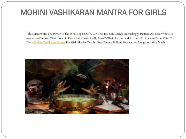 Mohini vashikaran mantra for girls