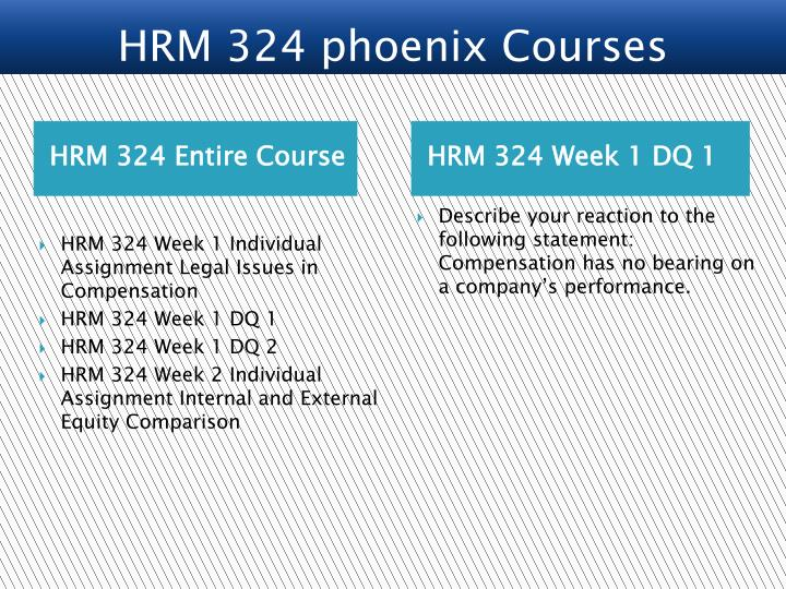 hrm324 total compansation wage management process Hrm 324 entire course link strategic compensation: a human resource management approach (9th ed) a wage management process and rationale.
