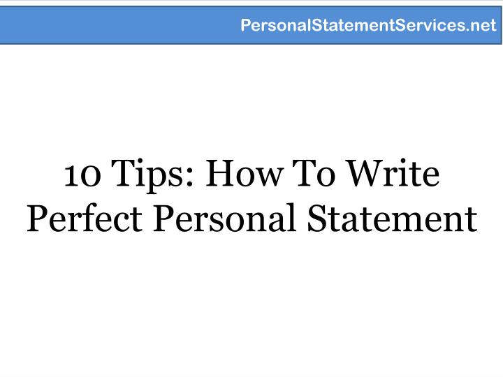 10 tips how to write perfect personal statement n.