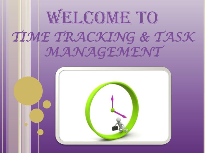 welcome to time tracking task management n.