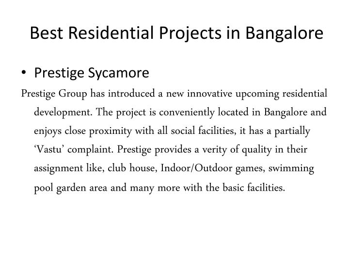best residential projects in bangalore n.