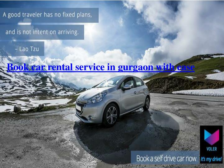 book car rental service in gurgaon with ease n.