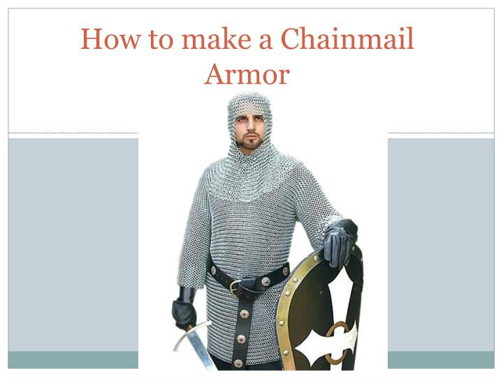 how to make a chainmail armor n.