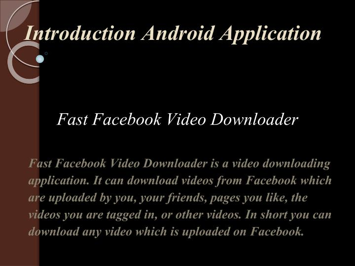 introduction android application n.