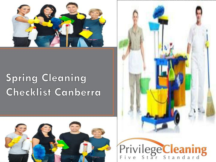spring cleaning checklist canberra n.