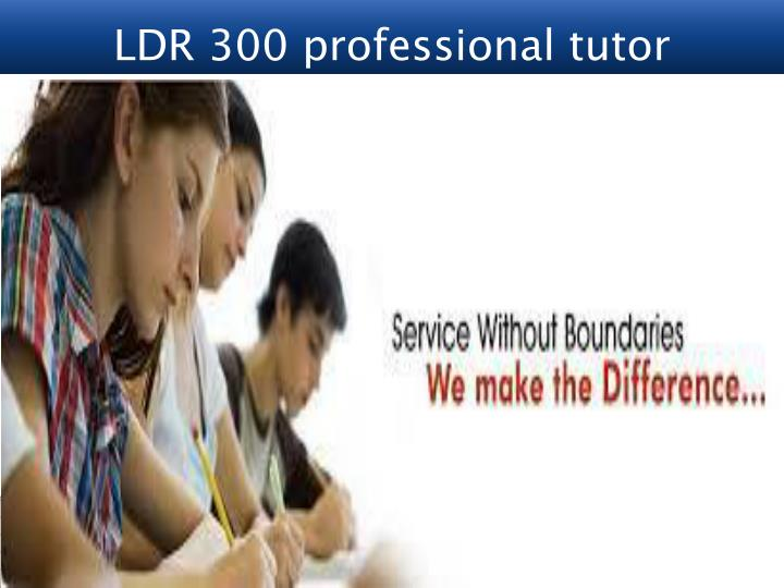 assignment ldr300 wk1 Ldr 300 formulating leadership part i week 2 your company's vice president of human resources has approached your team for assistance in recruiting and developing your organization's future leaders 60% of your company consists of millennials, and your team has been charged with how to successfully increase the number of millennials as.