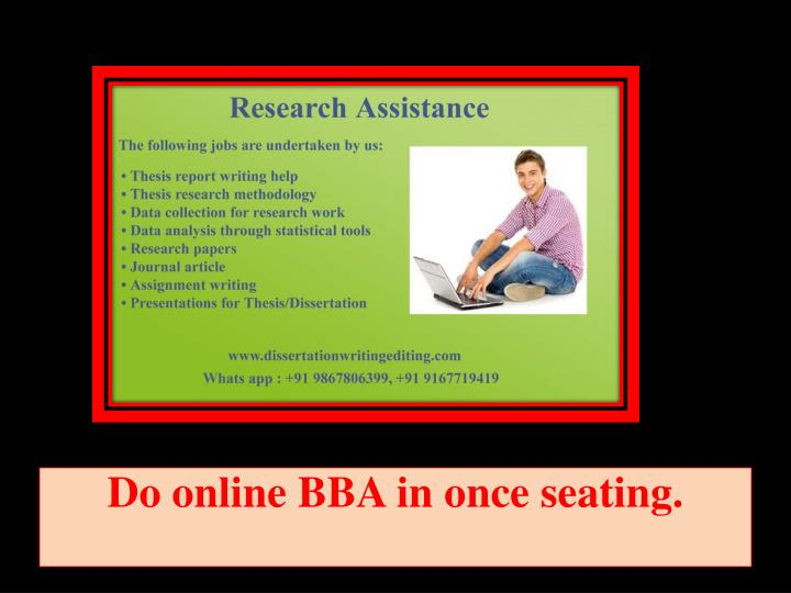 do online bba in once seating n.