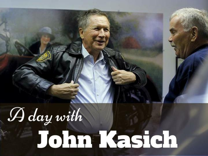 a day with john kasich n.