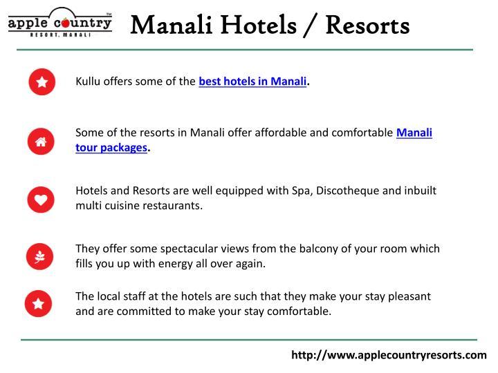 Manali Hotels / Resorts