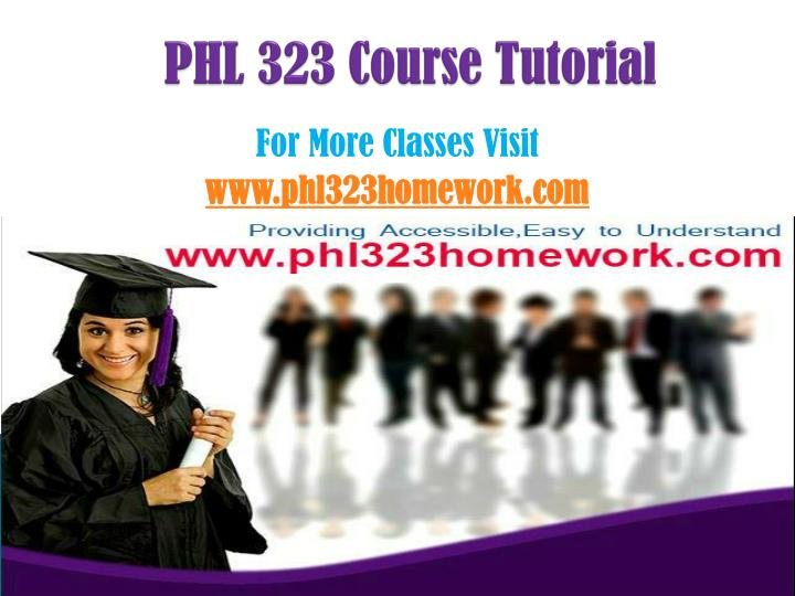 phl 323 course tutorial n.