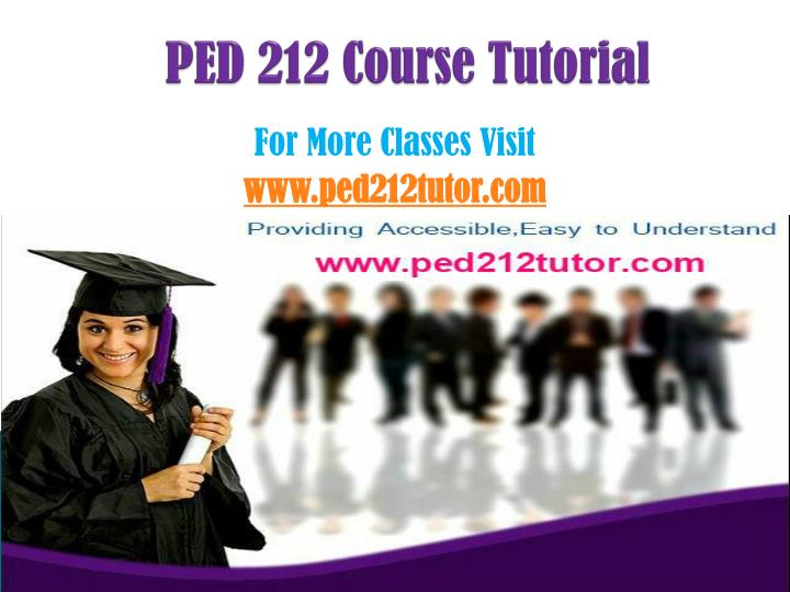 ped 212 course tutorial n.
