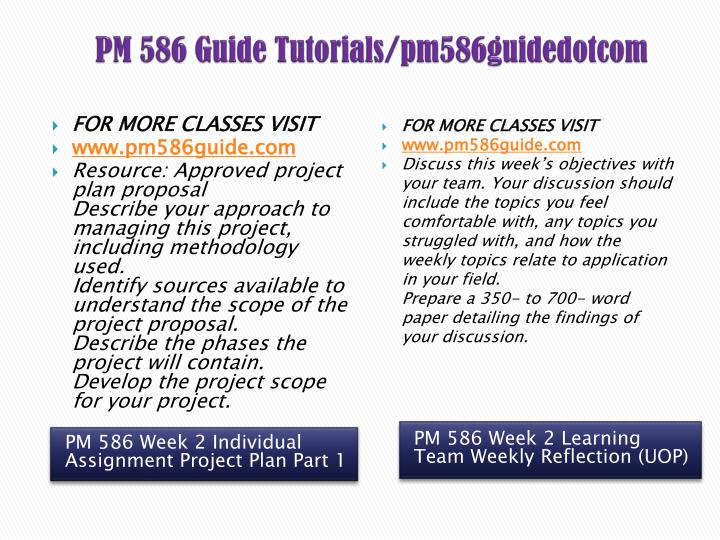 pm586 huntsville plan project scope Align the schedule and scope to the labor and capital budget develop the risk management plan for your project proposal address the following:  tutorials for this question available for $2500 uop pm586 week 3 project plan part 2 tutorial # 00082151 posted on: 08/03/2015 12:10 am  posted by: solutionshere questions: 103455.