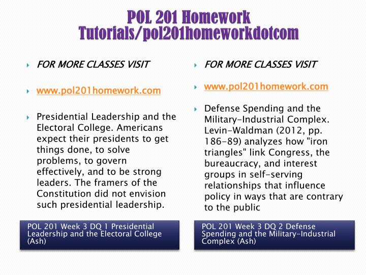 pol 201 presidential leadership and the electoral college