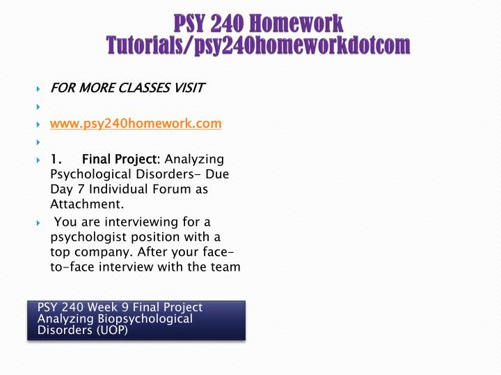 analyzing psychological disorders 17