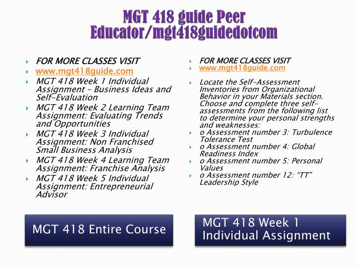 mgt 418 week 2 evaluating trends and opportunities